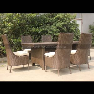Wicker Furniture Outdoor Garden Rattan Dining Set SGS (MTC-240) pictures & photos