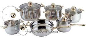 Cooker-12PCS Stainless Steel Cookware Set pictures & photos