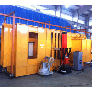 Automatic Powder Coating Spray Booth with Filter Cartridge Recovery System pictures & photos