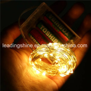 AA Cold White Color Micro LED String Lights Battery Operated on 7.5 Feet pictures & photos