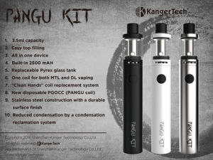 Wholesale Kanger E-Cigarette Pangu Vape Pen Kit pictures & photos