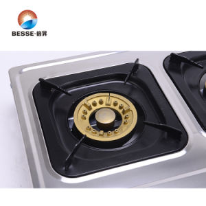 Three Burners Gas Cooker, Stainless Steel Panel pictures & photos