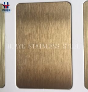 Luxury PVD Stainless Steel Colored Sheet and Plate for Elevator Door Wall pictures & photos