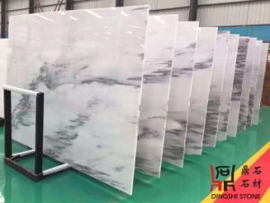 Natural Stone Dark Jade White Marble Slabs for Countertop/Flooring Tiles/Wall Clading pictures & photos