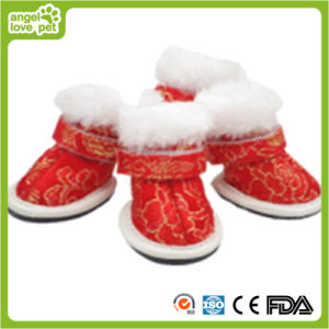 Pet Gold Fabric Rubber Sole Shoes Pet Product pictures & photos