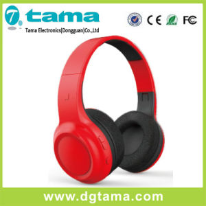 Bluetooth V4.0 CSR Chipset Red Color Overhead Wireless Headphone pictures & photos