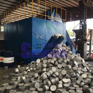 Horizontal Aluminum Scrap Turnings Block Making Machine with Large Output pictures & photos