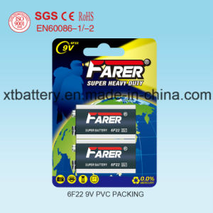 Farer Mercury Free Cadmium Free Lead Free Super Heavy Duty Dry Battery (9V 6f22) pictures & photos
