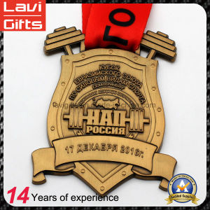 Professional Customized Production Medal with Honor Ribbon pictures & photos
