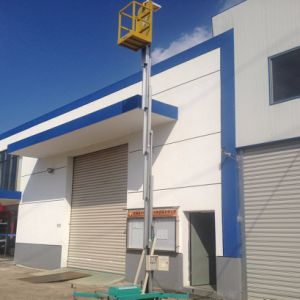 hydraulic Aluminum Mast Aerial Lift Work Platform (Max Height 10m) pictures & photos
