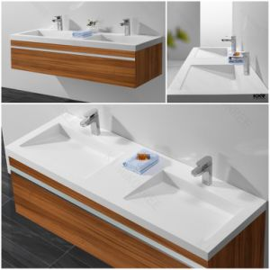Modern Furniture Solid Surface Bathroom Cabinet Wash Basin (B170911) pictures & photos