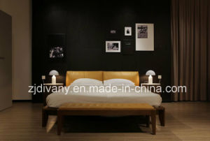 American Style Home Furniture Bedroom Leather King Bed (A-B39) pictures & photos