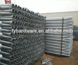High Quality Hot DIP Galvanized Screw Anchor for Fence (factory) pictures & photos