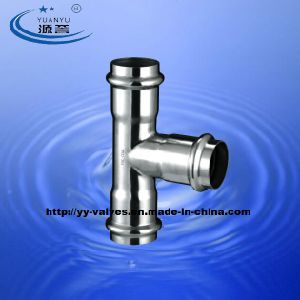 Stainless Steel Press Pipe Fittings Equal Tee pictures & photos