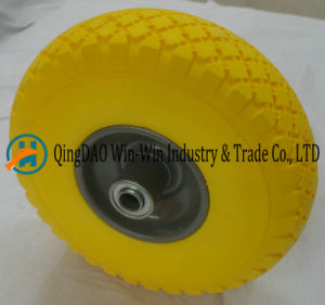 10 Inch Flat Free PU Foamed Hand Truck Tyre 3.00-4/300-4 pictures & photos