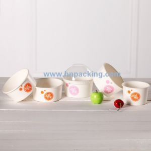 Low Price Colourful Paper Ice Cream Cups with Lid pictures & photos
