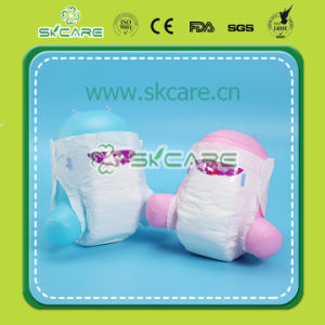 Ultra Smooth Feeling PE Film, PP Tape, 3D Leak Guard Baby Diapers pictures & photos