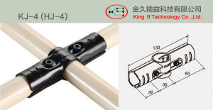 180 Degree Angle Metal Joint for 28mm Coated Tube pictures & photos