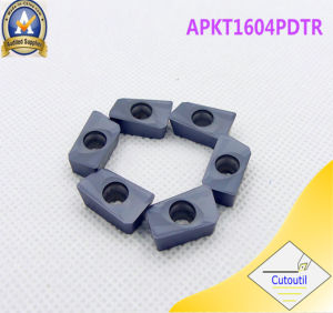 Cutoutil Apkt1604  Ht30 for Steel Alternative for Lamina   Carbide Inserts pictures & photos