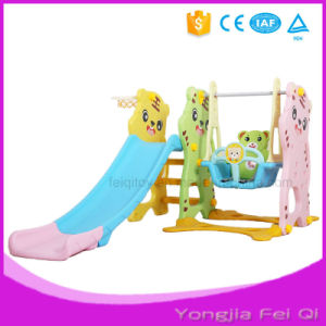 Indoor Mutifunction Playground Slide and Swing with Basketball Hoop Stand for Kid Mh Series pictures & photos