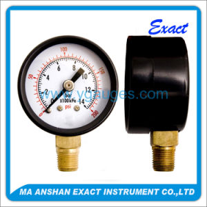 Dry Air Bourdon Tube Pressure Gauge with Black Steel Case pictures & photos