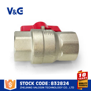 Butterfly Handle Nickel Plated Brass Ball Valve pictures & photos