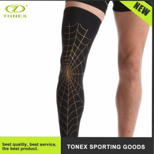High Elastic Knee Brace with Spider Web Pattern pictures & photos