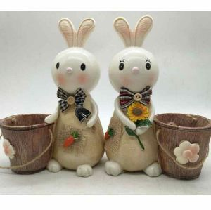 Handmade Resin Decorative Rabbit Money Box for Children pictures & photos