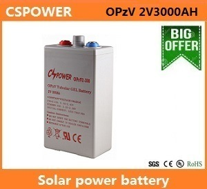 Deep Cycle Solar Gel Battery 2V3000ah pictures & photos