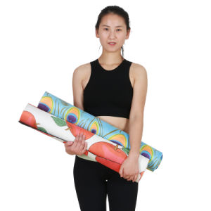 Eco-Friendly Natural Tree Rubber Yoga Mat Micro Suede Yoga Mat Antislip pictures & photos