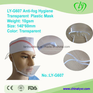 Ly-G607 Anti-Fog Hygiene Transparent Disposable Plastic Mask pictures & photos