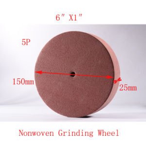 "6""X1"" 5p Nonwoven Grinding Wheel Green Scourer Pad Surface Conditioning Wheels pictures & photos"