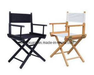 Short Cross Director Chair Contemporary and Contracted Folding Chairs, Leisure Fishing Chair Canvas Wooden Chair (M-X3829) pictures & photos