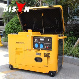 Bison Copper Wire Electric Start Portable Silent Diesel 7kVA Generator pictures & photos