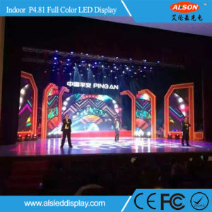 Allenson Full Color P4.81 Indoor HD Rental LED Display TV pictures & photos