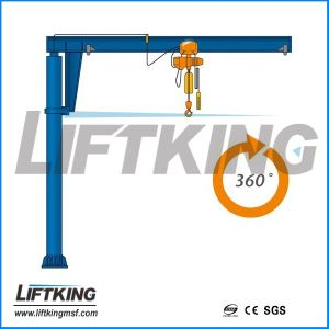 Liftking Brand Floor Mounted Kbk Slewing Jib Crane Manufacturer pictures & photos