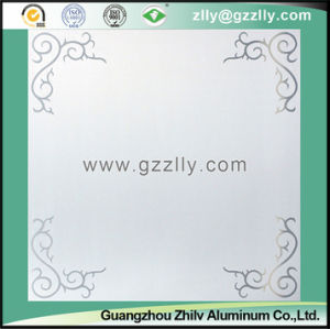 Decorative Frosted Ceiling Panel with Flower Pattern -Peony pictures & photos