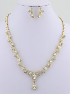 Wholesale 18k Gold Wedding Accessories Bride Jewelry Set pictures & photos