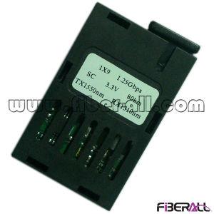 Bidi 1X9 Optical Fiber Transceiver 1.25gbps 80km Sc 3.3V/5V pictures & photos