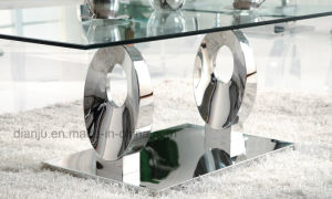 Special Silvery Home Furniture Glass Top End Table (CT6033)