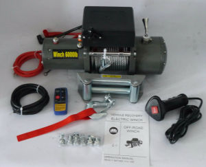 4X4 Recovery Electric Winch with Wireless Remote Control (6000lb) pictures & photos