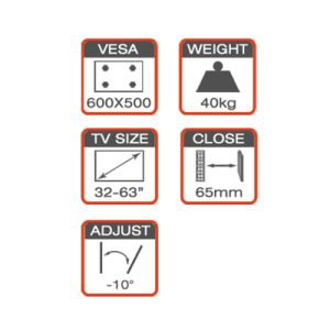 Curved TV Mount Fit for 32-70′′ with Strong Arm pictures & photos