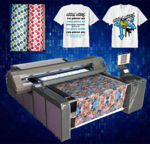 Pigment Digitall Printing Machine for Fabric Roll and T-Shirt pictures & photos