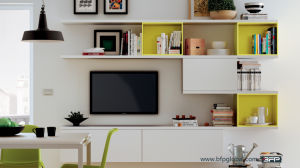 Customized MDF TV Cabinet with Corner Stand pictures & photos