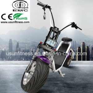 Usun 1000W Two Wheel Electric Scooter City Coco with Double Seat Motorcycles Made in China pictures & photos