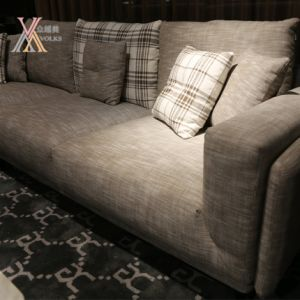 Fabric Sofa with Plaid Pattern (802D) pictures & photos