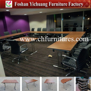 Modern Wholesale Foldable Melamine Laminate Restaurant Conference and Meeting Panel Table Furniture for Sale in Hotel and Office (YC-T100-6) pictures & photos