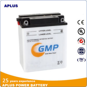 Low MOQ for 12V 12ah Dry Charge Motorcycle Battery CB12al-a pictures & photos