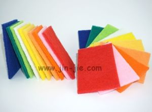 Best Selling High Standardsponge Scouring Pad for BBQ Cleaning pictures & photos
