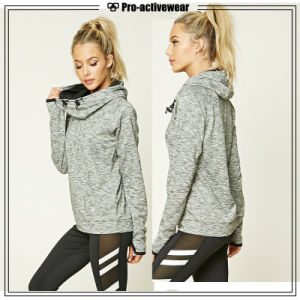 Top Quality Grey Women Sports Running Jackets with Mesh pictures & photos